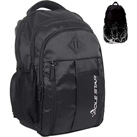 POLESTAR ENZO black 35 ltrs casual backpack /bag with laptop compartment