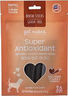 Get Naked Grain Free 1 Pouch 6.2 Oz Super Antioxidant Dental Chew Sticks, Small