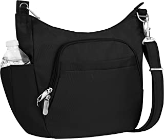 Travelon Anti-Theft Classic Crossbody Bucket Bag, Black (Black) - 42757 500-Black-One Size