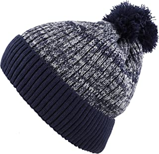 The Hat Depot Exclusive Ribbed Knit hat Warm Fuzzy Thick Fleece Lined Winter Skull Beanie