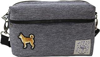 プラスエイチ(Plus H) ショルダーバッグ ミニショルダー 柴犬 3D刺繍パッチ メンズ レディース PH8441