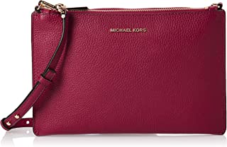 MICHAEL KORS Womens Large Double Pouch Xbody Bag, Berry - 32S9GF5C4L