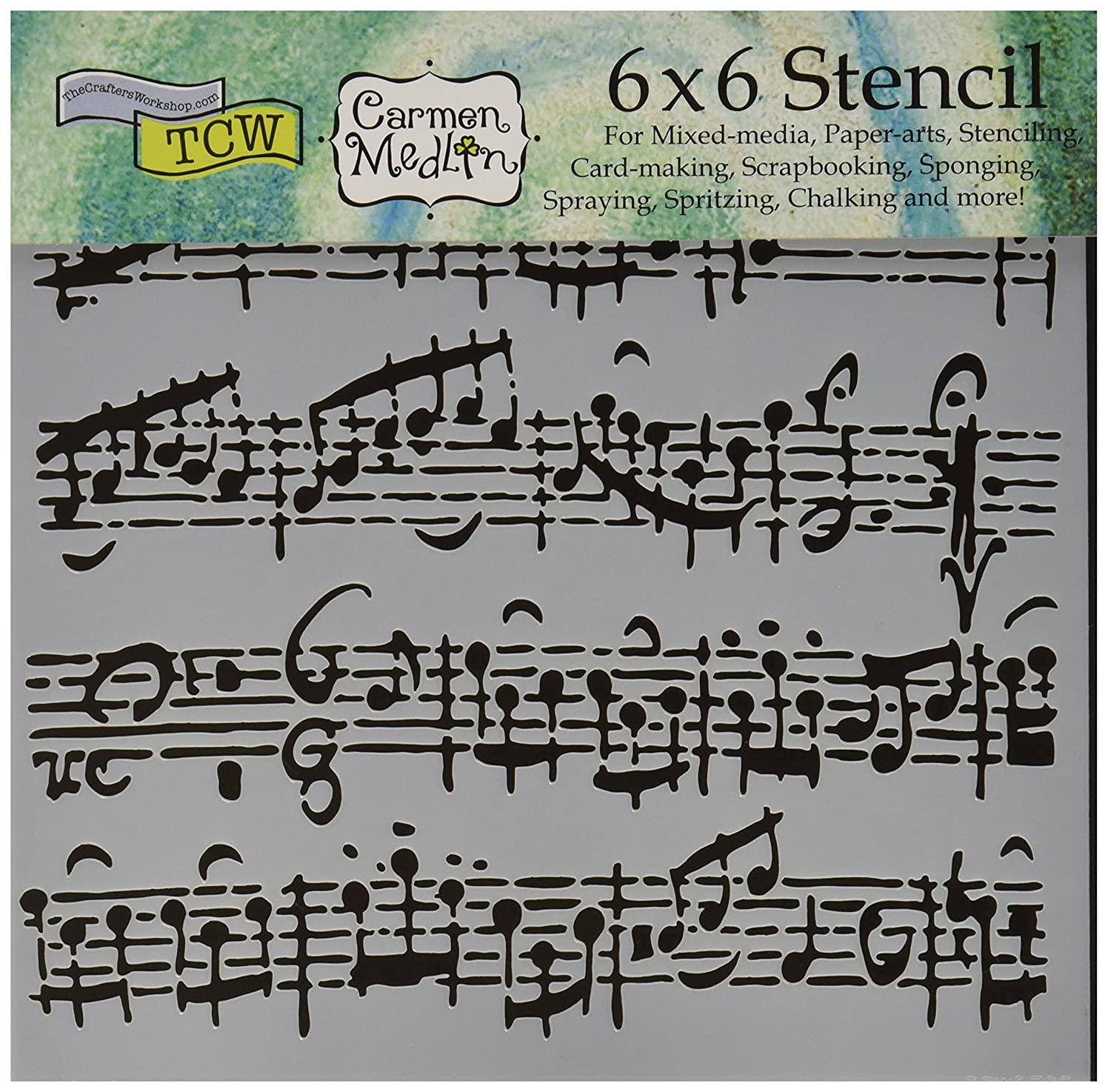 CRAFTERS WORKSHOP TCW6X6-579 Sheet Music Crafter's Workshop Template, 6 by 6