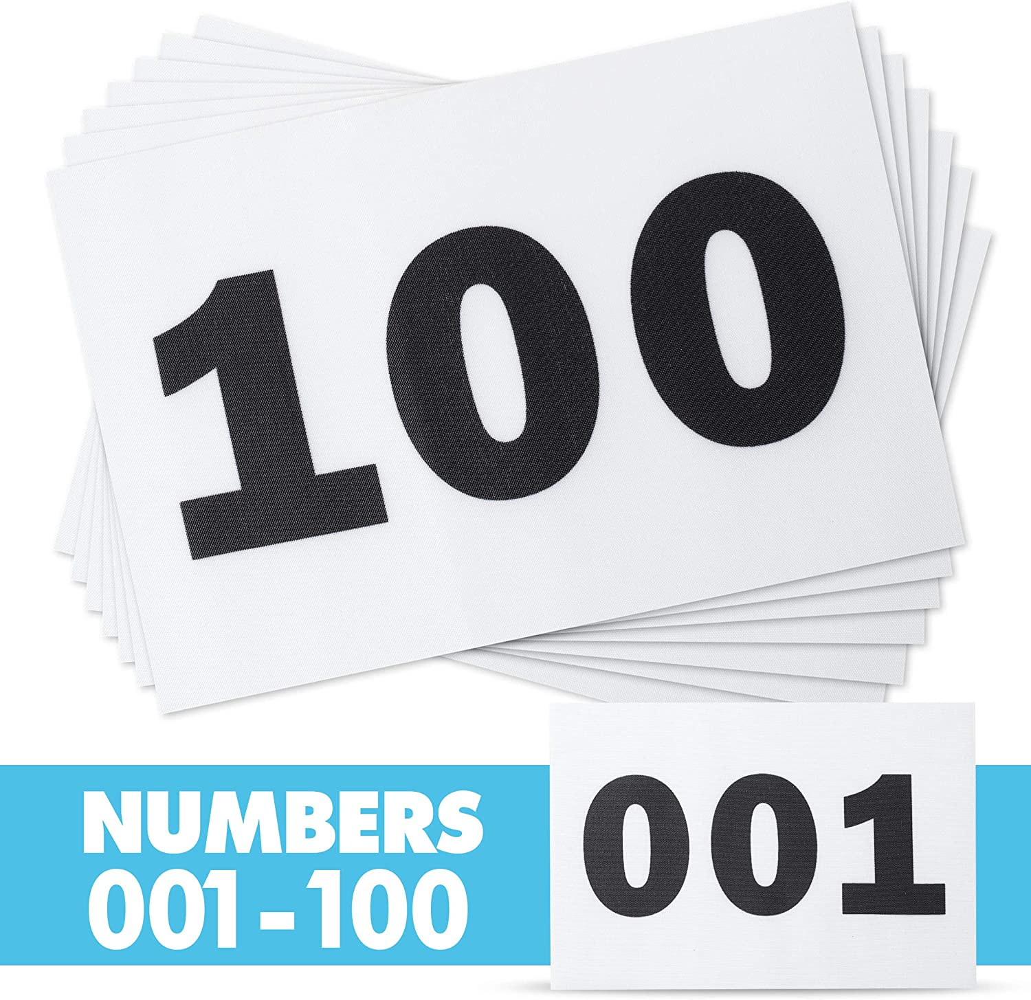 Race Numbers Running Bibs for 5k Marathon Sports Games Competition  5.5  X 8.25