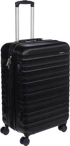 Amazon Basics Valise de voyage à roulettes pivotantes, Noir, 68 cm