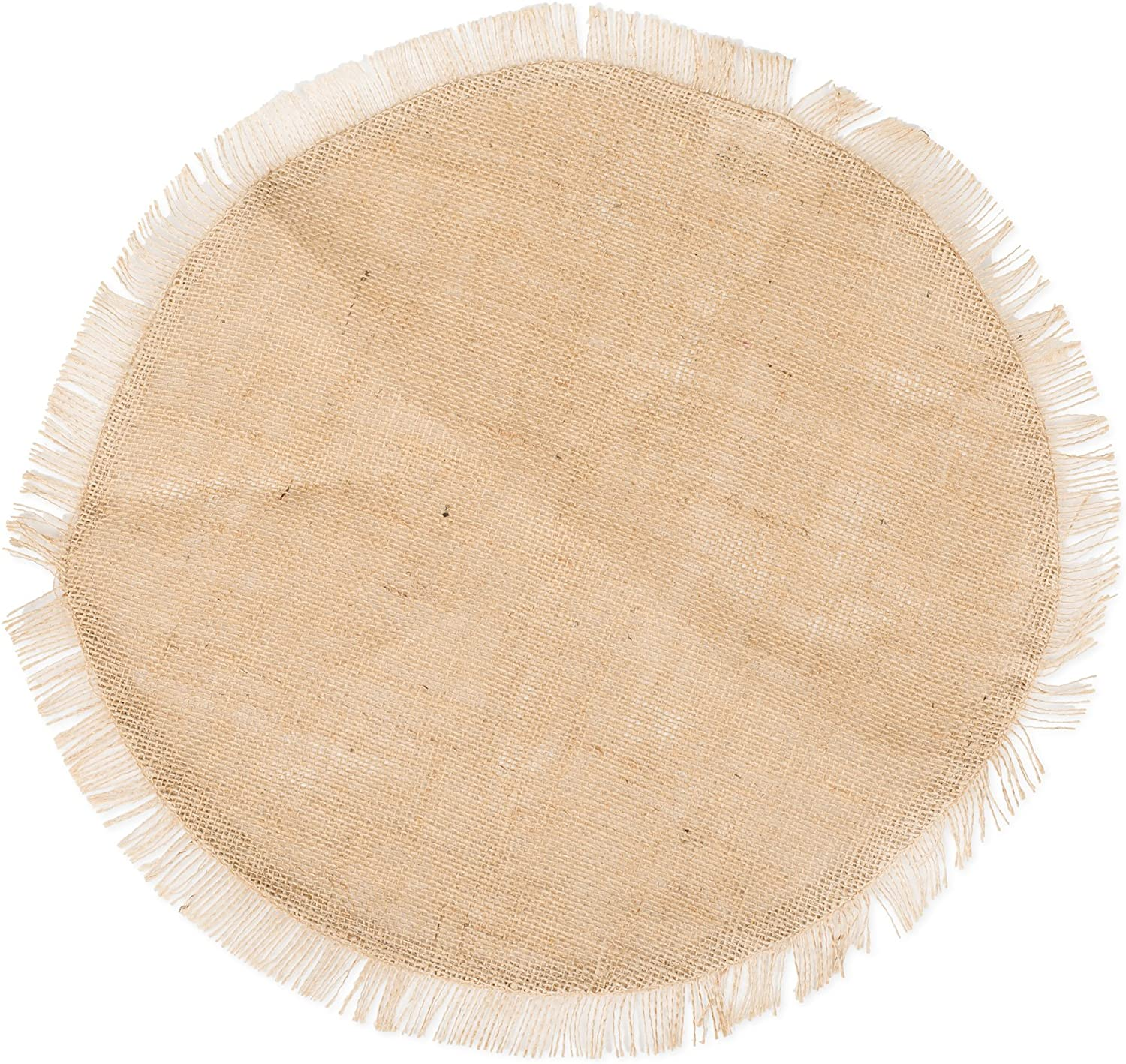 The Country House Collection Phoenix Mall 14 Burlap Fringed Price reduction Mat Inch Round