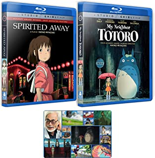 Spirited Away and My Neighbor Totoro: Hayao Miyzaki Blu-ray Collection with Bonus Art Card