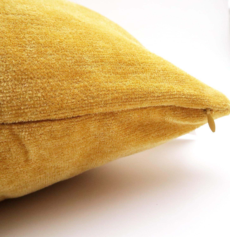 Meishida Juego de 2 Fundas de Coj/ín 40 x 60 cm Tejido de Chenilla Suave Fundas Almohada con Cremallera Oculta Decorativa para Sof/á y Cama Beige, 40 x 60 cm
