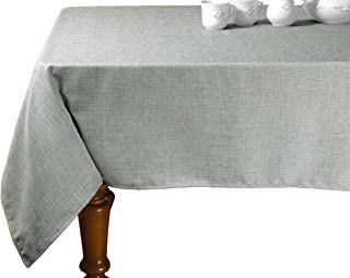 "Violet Linen Euro Vintage Design Oblong/Rectangle Tablecloth, 68"" x 120"", Grey"
