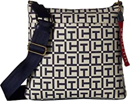 Tommy Hilfiger Classic Tommy Large Crossbody TH Logo Canvas