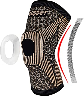 JIUFENTIAN Copper Knee Brace with Patella Gel Pads and Side Stabilizers - Professional Copper Knee Sleeve for Arthritis Pa...