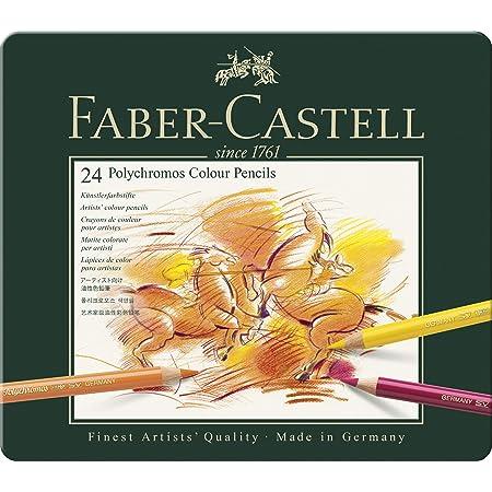 Faber-Castell Polychromos Artists' Color Pencils - Tin of 24 Colors - Premium Quality Artist Pencils