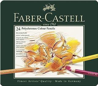 Faber-Castel 24 Piece Polychromous Colored Pencil Set in Metal Tin