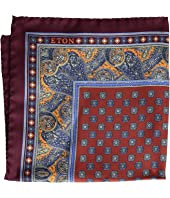 Eton - Medallion Pocket Square Paisley Border