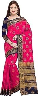 Rajnandini Women's Silk Peacock Zari Weaving Work Kanjivaram Saree With Blouse (JOPLNS2004_Free Size)