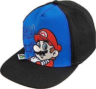 قبعة بيسبول للأولاد من نينتندو سوبر ماريو سن 4-7 باللون الأزرق/الأسود