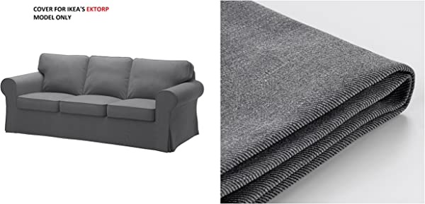 IKEA Cover For Ektorp Sofa Nordvalla Dark Gray