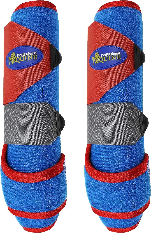Horse Medium Professional Equine Sports Medicine Splint Boots Patriotic 4115A