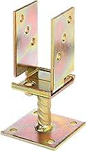 GAH-Alberts 214500 U-paalhouder, in breedte verstelbaar en om op te schroeven, elektrolytisch geel verzinkt, breedte 71-13...