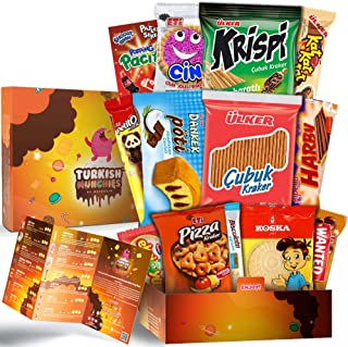 Mini Premium International Snacks Variety Pack Care Package, Ultimate Assortment of Turkish Treats, Mix variety pack of chips, crackers, candy, chocolate and cakes, Turkish Munchies