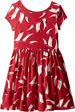 Sailboat Twist-Back Dress (Little Kids)
