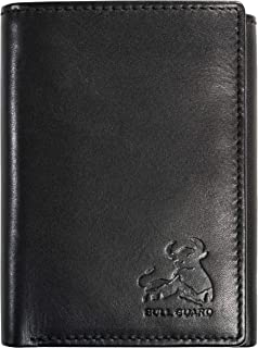Genuine Nappa Leather Trifold Wallet For Men RFID And ID Window