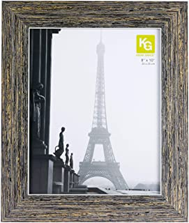 Kiera Grace Emery Picture Frame, Weathered Grey Reclaimed Wood Finish, 8 by 10-Inch