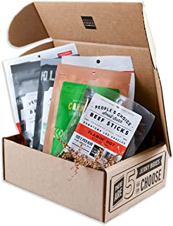People's Choice Beef Jerky - Jerky Box - Some Like It Hot - Unique Gift for Men - Protein Snacks Military Care Package - Best Christmas Gifts for Him - Meat Snack Sampler Gift Basket - 6 Bags
