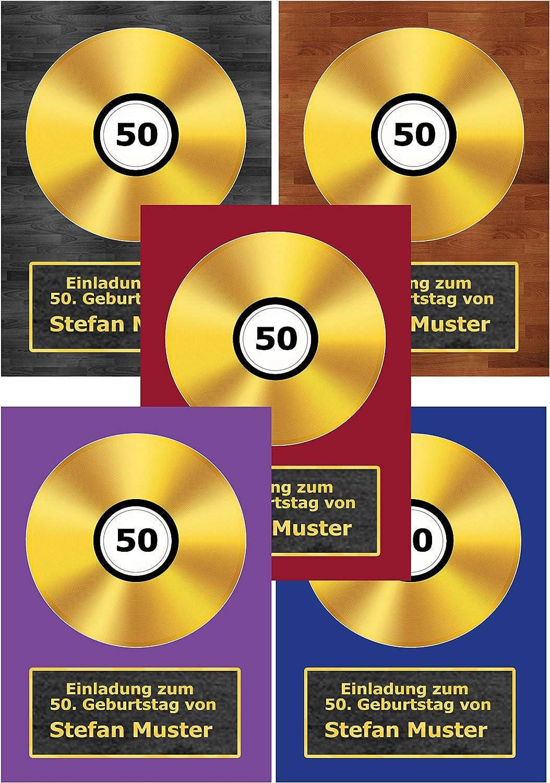 Goldene Schallplatte Schallplatte Schallplatte als Einladungskarten zum Geburtstag Einladung CD Schallplatten - 70 Stück B01BCDHYCU  | Outlet Online Store  8b6210