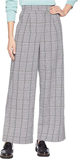 Glen Check Wide Leg Pants