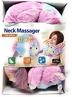 Neck Massager That Vibrates and Keeps Neck Warm with The Soft Plush Fabric. Great for Travel, Home, Or Office (Unicorn)
