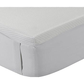 Classic Blanc - Topper/Sobrecolchón viscoelástico 5 cm, con funda ...