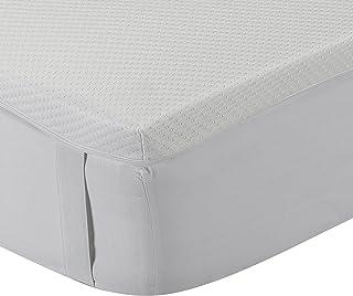 comprar comparacion Classic Blanc - Topper/Sobrecolchón viscoelástico 5 cm, con funda lavable y tratamiento Aloe Vera, firmeza media. 120x190c...