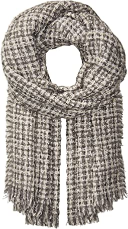 Lurex Tweed Wrap Scarf
