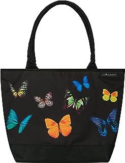 VON LILIENFELD Handtasche Damen Motiv Butterfly Schmetterlingstanz Shopper Maße L42 x H30 x T15 cm Strandtasche Henkeltasc...