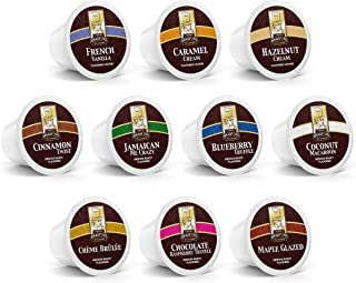 100ct Flavored Variety Pack for Keurig K-cups®, 10 Assorted Flavored Single Cups by Bradford Coffee