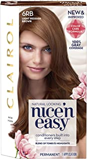 Clairol Nice'n Easy Permanent Hair Color, 6Rb Light Reddish Brown, Pack of 1