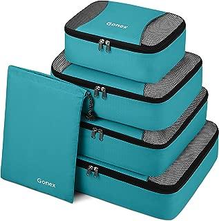 Gonex Packing Cubes Travel Luggage Organizer with Shoe Bag (Blue)