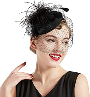 Tea Party Fascinator Hat Pillbox Hat Fascinator Veil Derby Hat Headband
