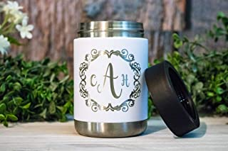 Custom Engraved Stainless Steel Can Cooler, Personalized Can Coozies, Colster