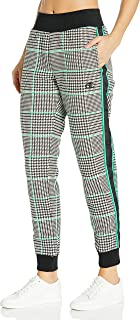 Champion LIFE Womens ML777T549286 Reverse Weave® Jogger - Houndstooth Sweatpants - White