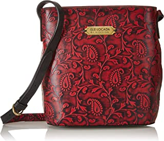 Isle Locada By Hidesign Women's Shoulder Bag (Red/Black) (N 1)