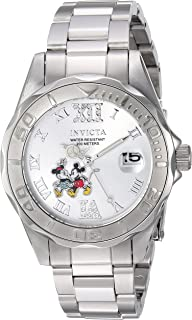 Women's Disney Limited Edition Quartz Watch with Stainless-Steel Strap, Silver, 9 (Model: 22867)