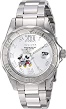 Invicta Women's Disney Limited Edition Quartz Watch with Stainless-Steel Strap, Silver, 9 (Model: 22867)
