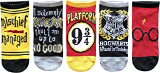 Harry Potter Kids Wizard in Training Mischief Managed 5 Pack Low Cut Socks