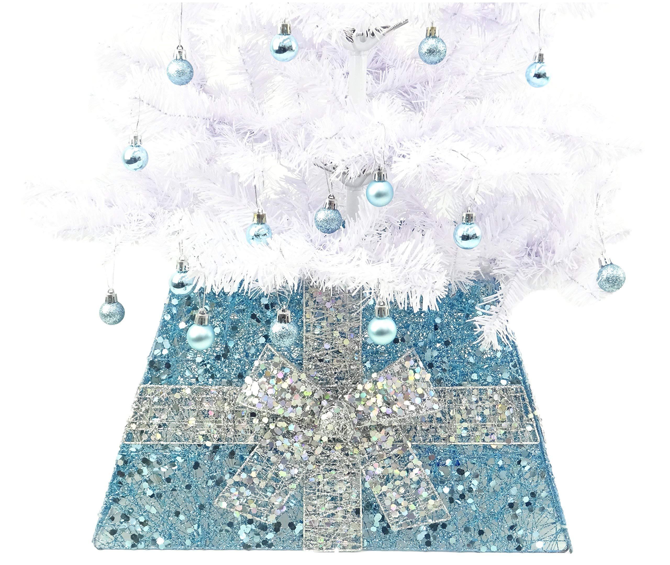 CHRISTMAS CONCEPTS® Falda Base de Navidad con Cinta Decoraciones ...