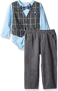 Little Lad Baby Boys' 2 Piece Faux Vest Bodysuit Pant Set