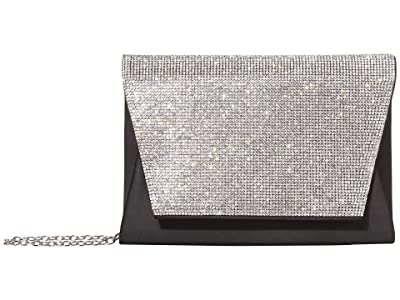 Jessica McClintock Brandi Flap (Black) Clutch Handbags