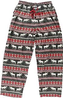 Moose Fair Isle Men's Mens Pajama Pants Bottom by LazyOne | Pajama Bottom for Men (Large)