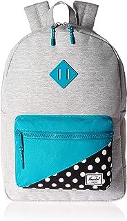 Herschel Kids  Heritage Youth XL Children s Backpack Light Grey Crosshatch Tile  Blue Mini e61fd56b06a38